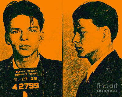 Alcatraz Photograph - Mugshot Frank Sinatra V2p0 by Wingsdomain Art and Photography