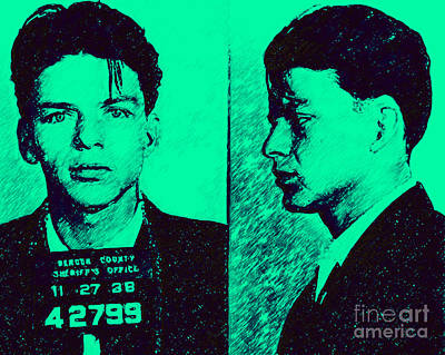 Mugshot Frank Sinatra V2p128 Art Print by Wingsdomain Art and Photography