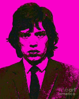 Alcatraz Photograph - Mugshot Mick Jagger M80 by Wingsdomain Art and Photography