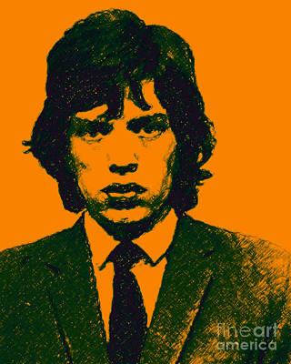 Mick Jagger Digital Art - Mugshot Mick Jagger P0 by Wingsdomain Art and Photography