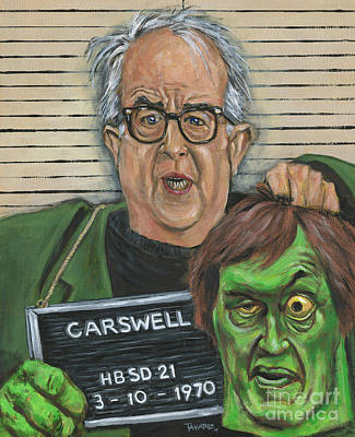 Painting - Mugshot Of Mr. Carswell Aka The Creeper by Mark Tavares