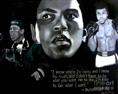 Painting - Muhammad Ali by Chelle Brantley