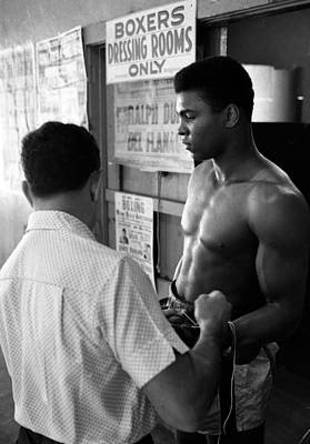Muhammad Ali Coming Out Of Dressing Room Print by Retro Images Archive