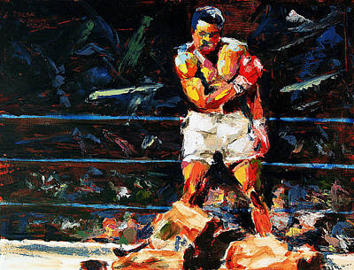 Boxer Painting - Muhammad Ali by Derek Russell