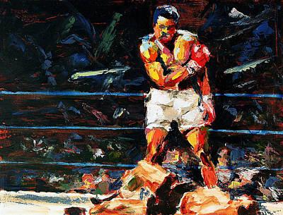 Sports Paintings - Muhammad Ali by Derek Russell