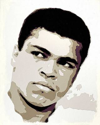 Painting - Muhammad Ali Poster Art by Florian Rodarte