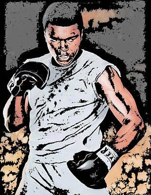 Boxing Legends Digital Art - Muhammad Ali by Tanysha Bennett-Wilson