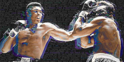 Black Ring Painting - Muhammad Ali by Tony Rubino