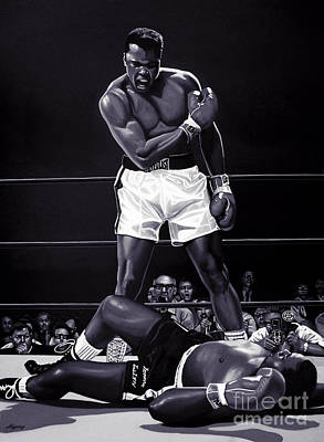 Boxer Mixed Media - Muhammad Ali Versus Sonny Liston by Meijering Manupix
