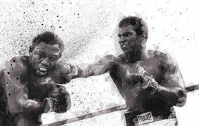 Knockout Digital Art - Muhammad Ali Vs Joe Frazier by Daniel Hagerman