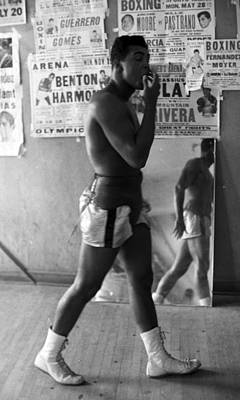 Muhammad Ali Walking In Gym Print by Retro Images Archive