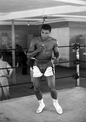 Heavyweight Photograph - Muhammad Ali Warming Up by Retro Images Archive