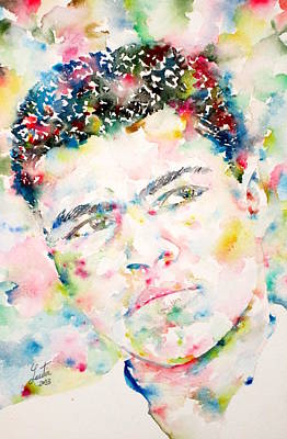 Muhammad Ali - Watercolor Portrait.1 Original by Fabrizio Cassetta