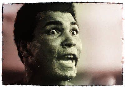 Boxing Legends Digital Art - Muhammed Ali During Training by Twan Urselmann