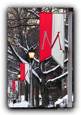 Photograph - Muhlenberg College Banners Bordered by Jacqueline M Lewis