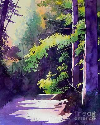 Pathways Painting - Muir Woods by Robert Hooper