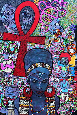 Taino Painting - Mujer Dinamica by Ramel Jasir