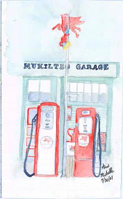 Mukilteo Garage Art Print
