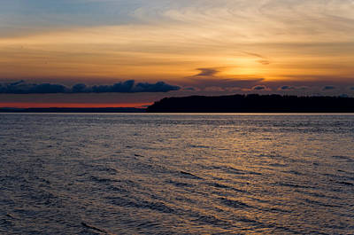 Photograph - Mukilteo Sunset by David Stine