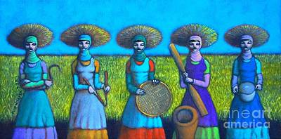 Rice Field Painting - Mula Karet Hanggang Kaldero by Paul Hilario