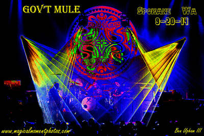 Photograph - Mule #14 Enhanced Image With Text by Ben Upham