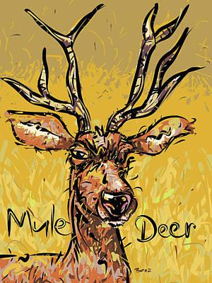 Mule Deer Drawing - Mule Deer by Brett LaGue