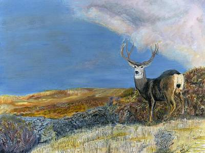 Painting - Mule Deer by Sara Stevenson