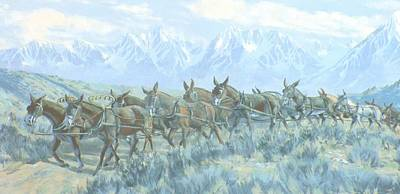 Photograph - Mule Mural by Marilyn Diaz