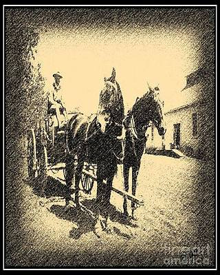 Photograph - Mule Team In Sepia by Don Melton