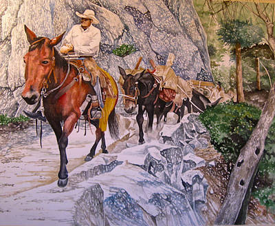 Painting - Mule Train by Lance Wurst