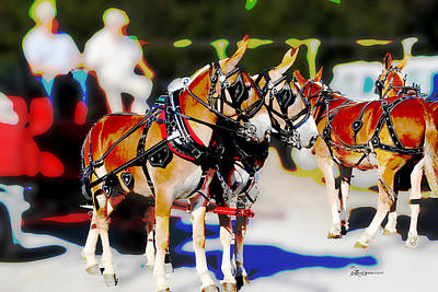 Photograph - Mules Meet by Ericamaxine Price