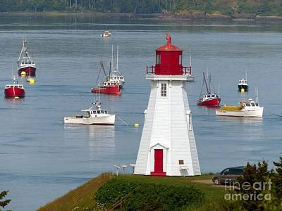 Photograph - Mulholland Point Lighthouse  At Roosevelt Campobello International Park by Christine Stack