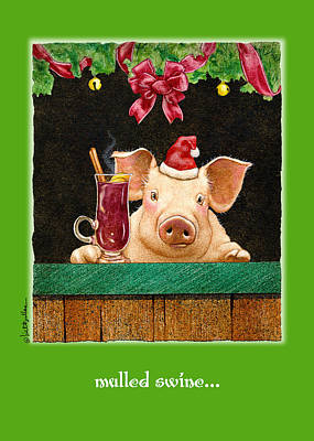 Red Wine Painting - Mulled Swine... by Will Bullas