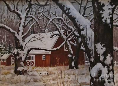 Painting - Mullen Hill Barn by Karen Olson