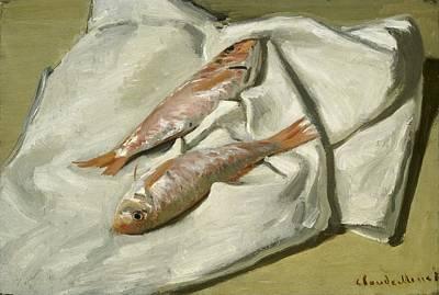 Mullets Print by Claude Monet