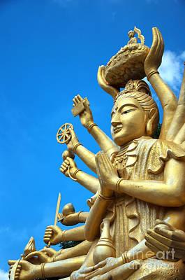 Multi Armed Buddha 01 Print by Antony McAulay