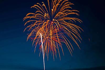 West Virginia Day Fireworks 3 Art Print by Howard Tenke