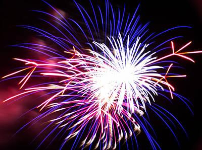 4th Of July Fireworks 15  Art Print by Howard Tenke