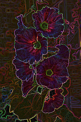 Photograph - Multi-color Electric Flowers by Mike Flake