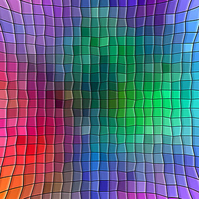 Digital Art - Multi Color Squares Background by Valentino Visentini