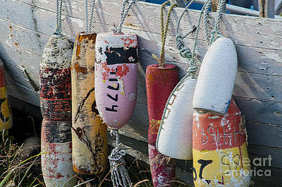 Photograph - Multi Colored Buoys Hanging On Boat  by Dan Friend