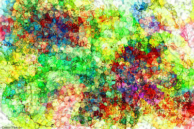 Digital Art - Multi Colored Digital Abstract I-2 by Debbie Portwood