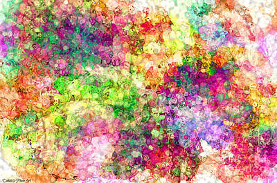 Digital Art - Multi Colored Digital Abstract I by Debbie Portwood