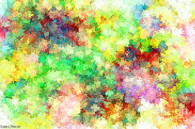 Digital Art - Multi Colored Digital Abstract IIi - 2 by Debbie Portwood