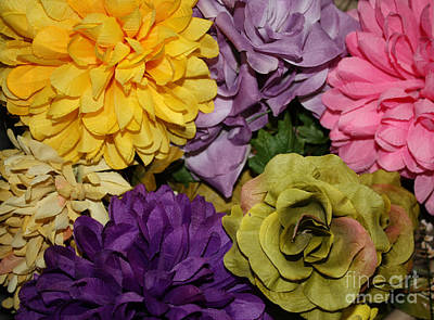 Photograph - Multi Colored Floral Arrangement by John Telfer