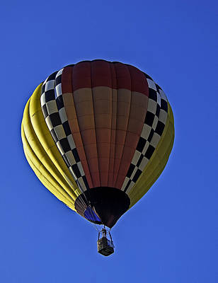 Photograph - Multi-colored Hot Air Balloon by Andy Crawford