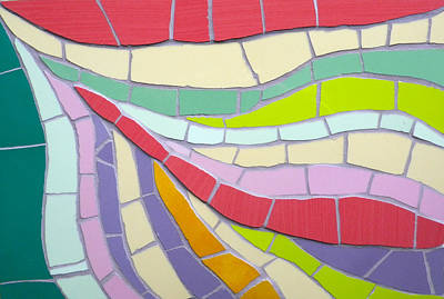 Mixed Media - Multi-coloured Contemporary Mosaic Art Work by Felicity Ball
