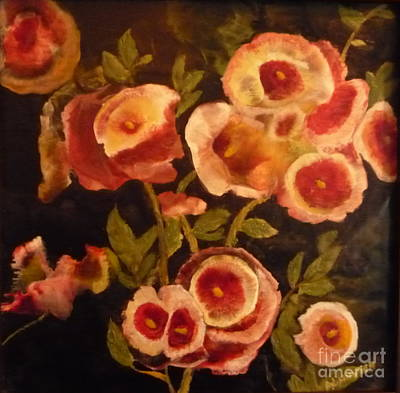 Painting - Multi Group Flowers by Al Hunter