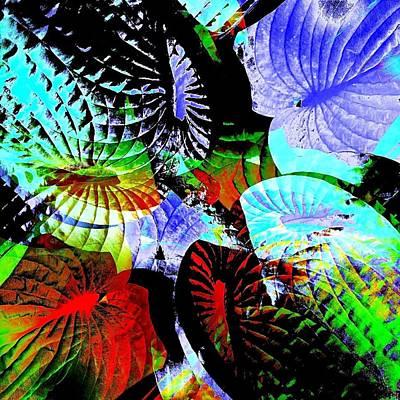 Multi Hosta Art Print by Stephanie Aarons