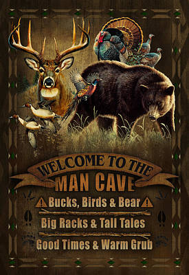 Painting - Multi Specie Man Cave by JQ Licensing